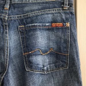 Seven For All Mankind Boot Cut Blue Jeans Sz 29